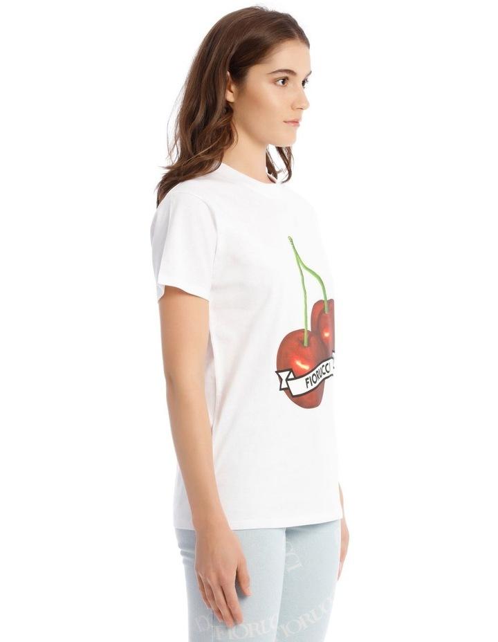 Oversized Cherries T-Shirt in White image 2