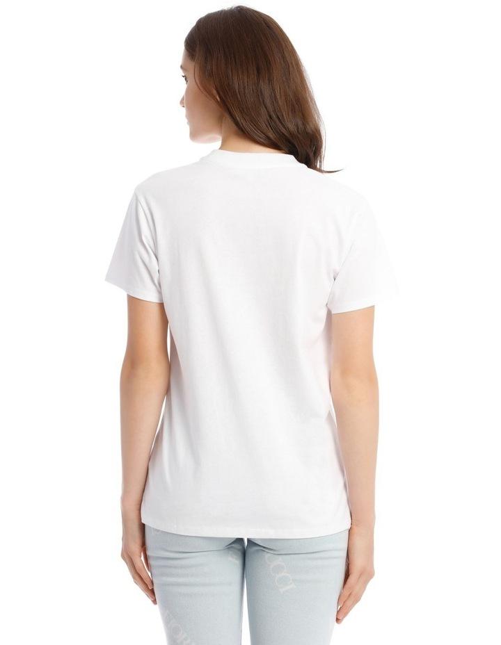 Oversized Cherries T-Shirt in White image 3
