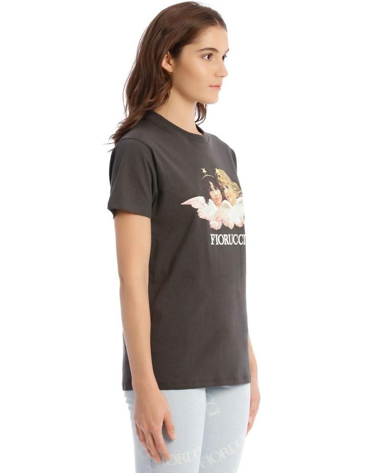 Vintage Angels T-Shirt in Dark Grey image 2