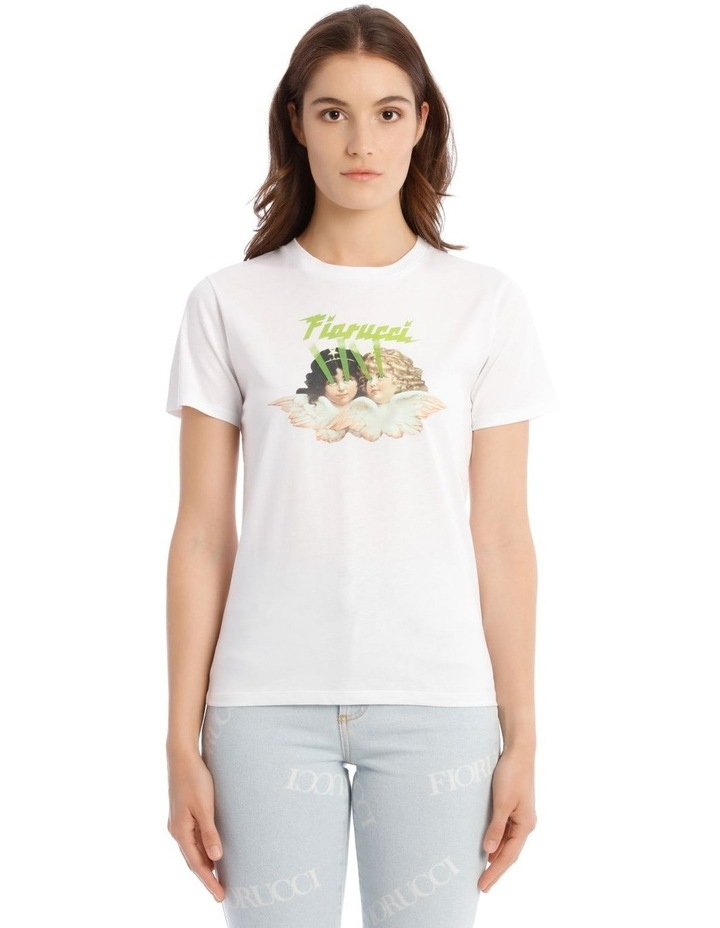 Angels Laser T-Shirt in White image 1