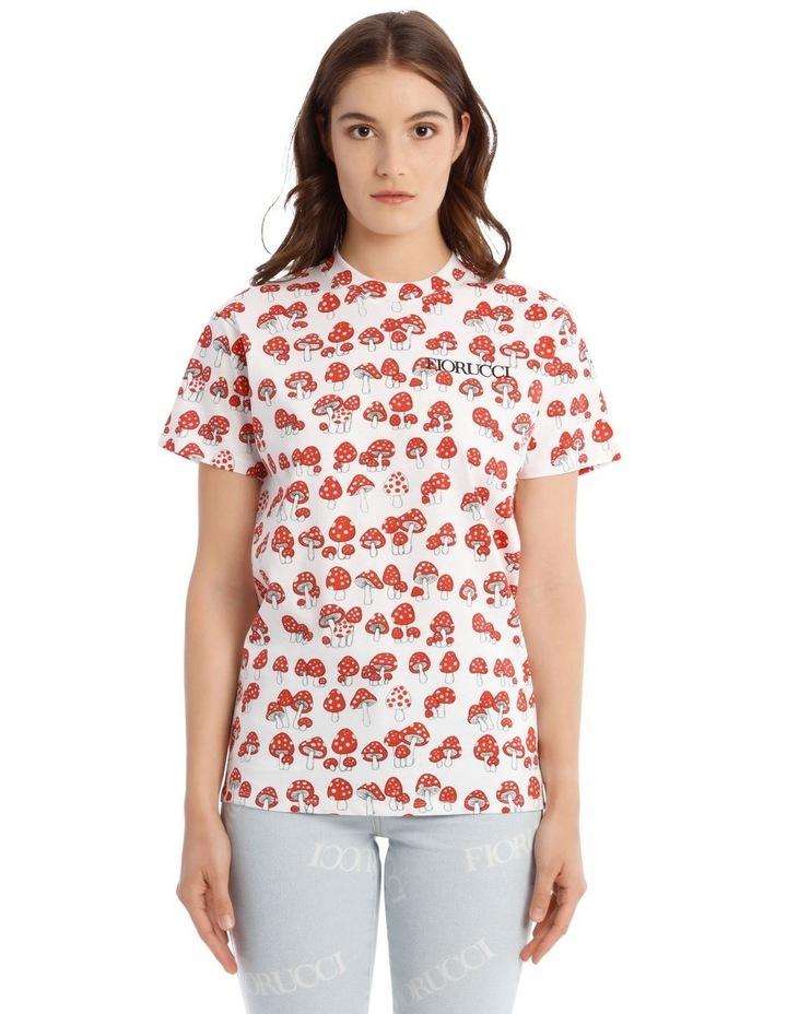 All-Over Mushroom Oversized T-Shirt image 1