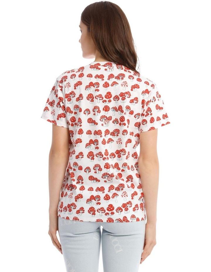 All-Over Mushroom Oversized T-Shirt image 3