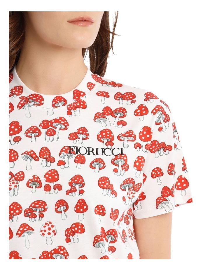 All-Over Mushroom Oversized T-Shirt image 4