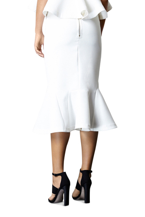 By Johnny - Waffle Drop Flair Skirt