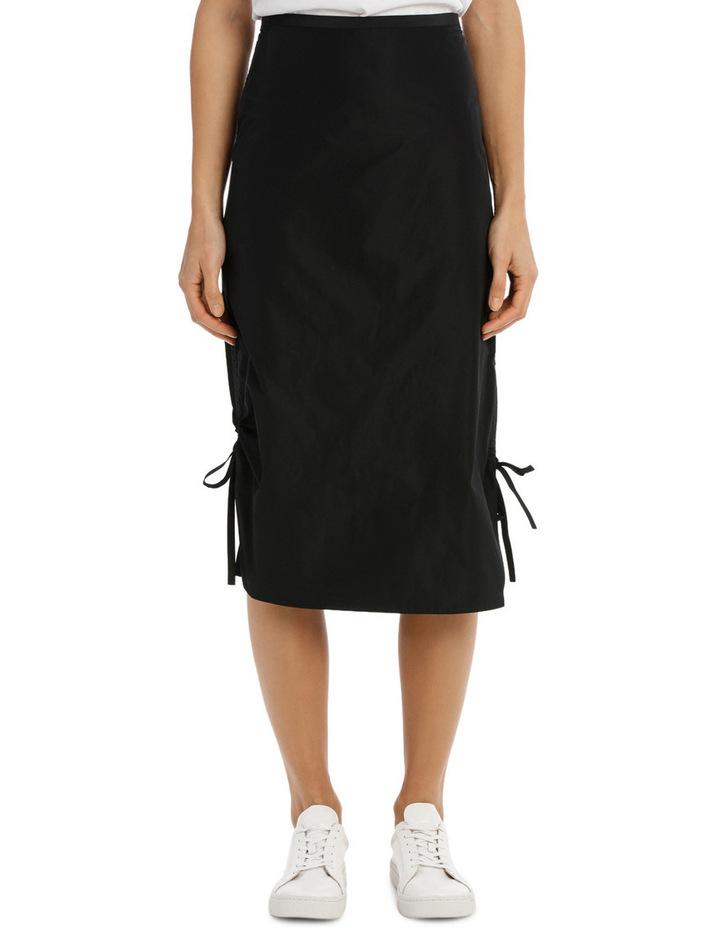 Midi Pencil Skirt Drawstring image 1