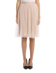 Dotted Tulle Midi Skirt