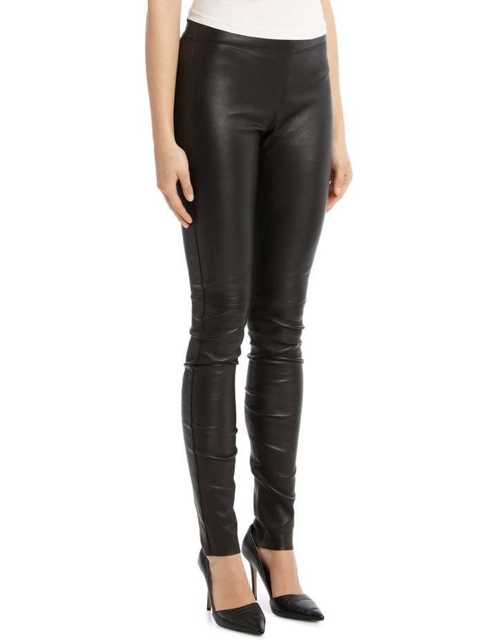 Stretch Leather Trousers image 2