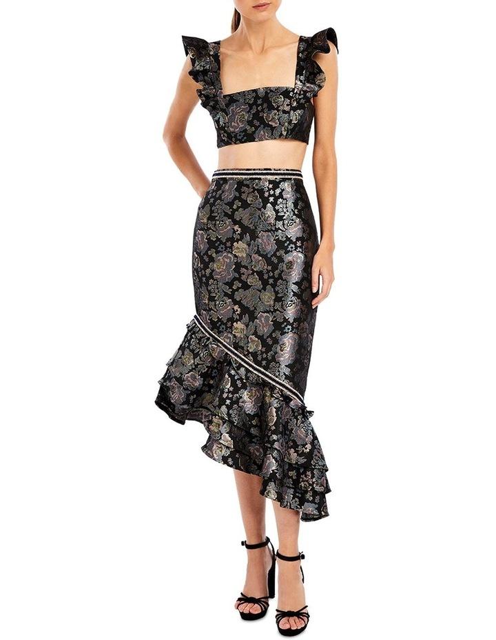 Dixie Asymmetric Skirt in Midnight Rose image 1