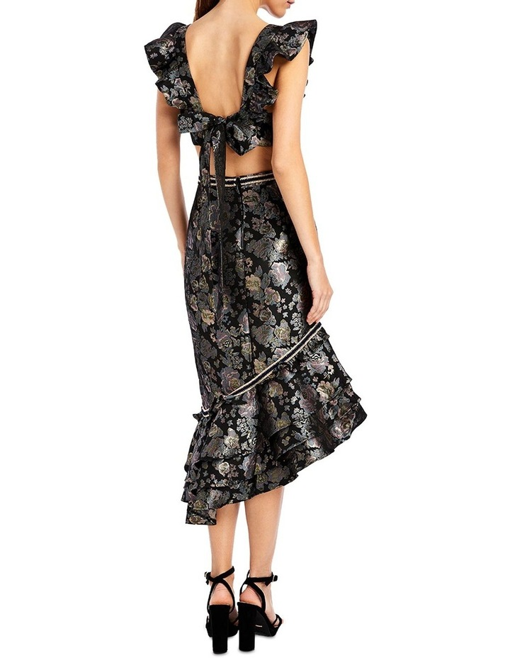 Dixie Asymmetric Skirt in Midnight Rose image 2