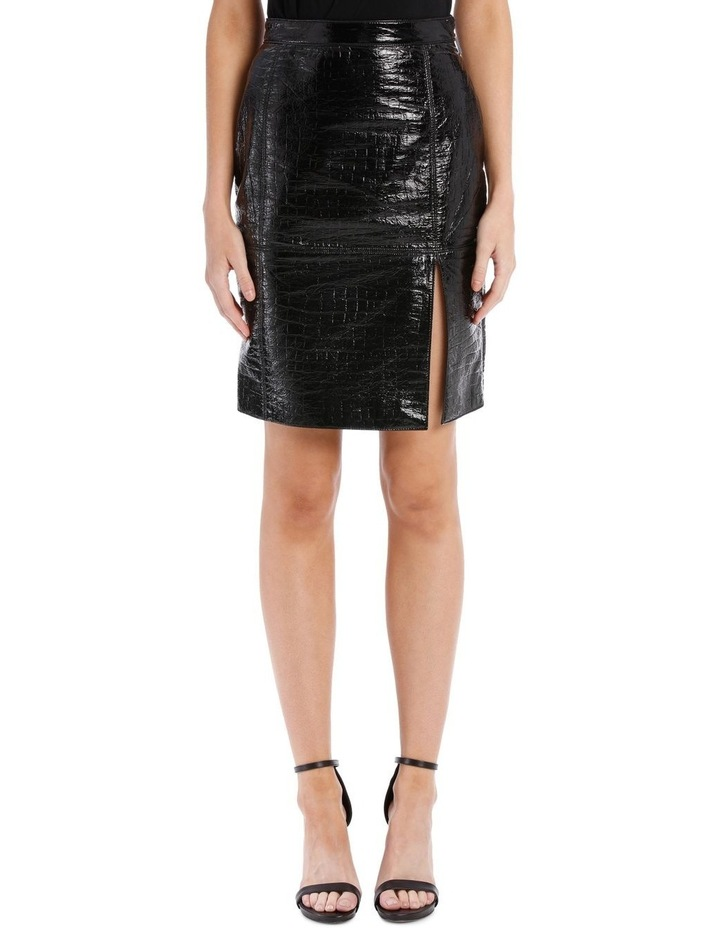 Faux Patent Skirt (Coco Effect) image 1