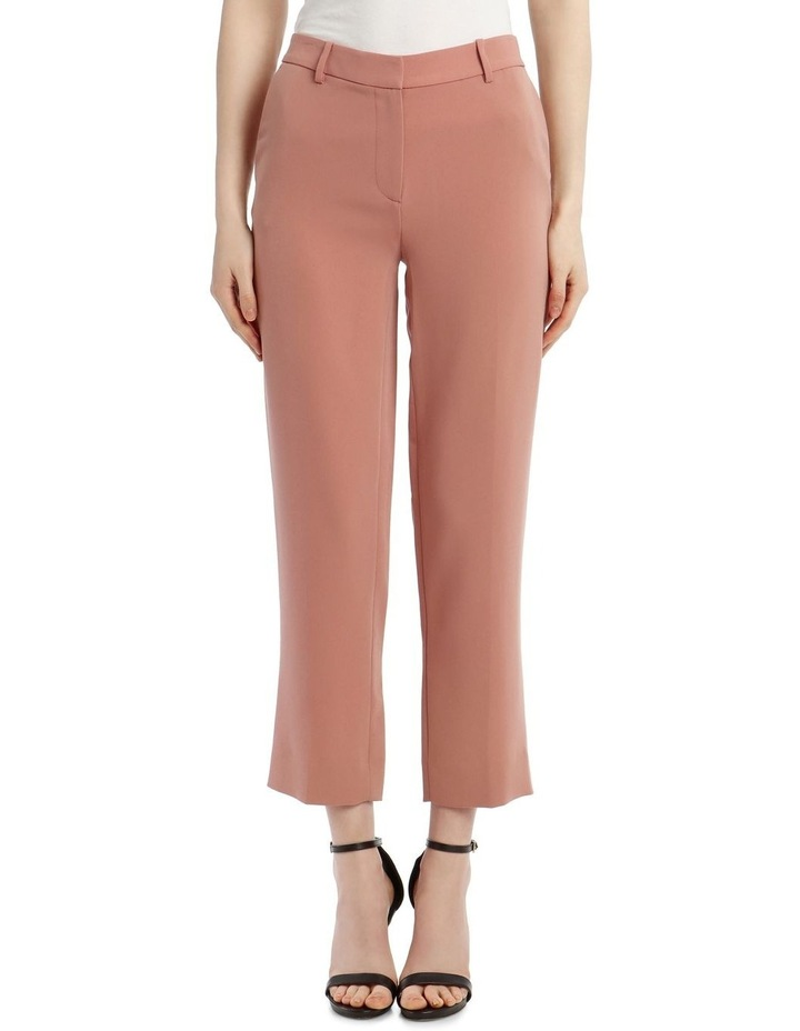 'Tami' Straight-Leg Trousers - Rose image 1