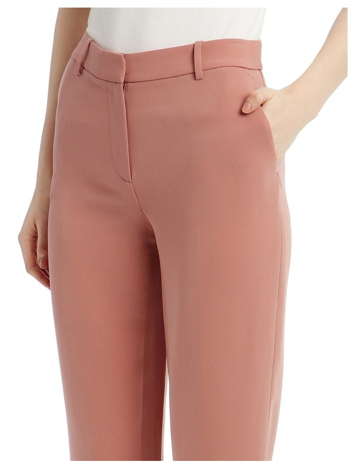'Tami' Straight-Leg Trousers - Rose image 4