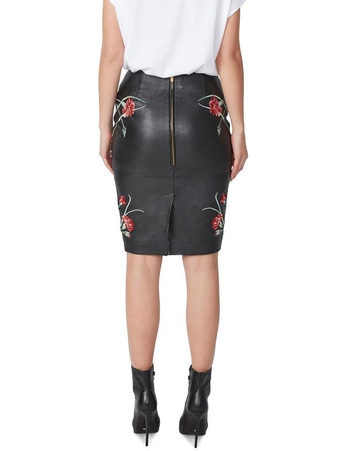 Jardin Leather Pencil Skirt image 3