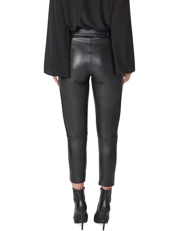 Cropped Leather Pants image 3