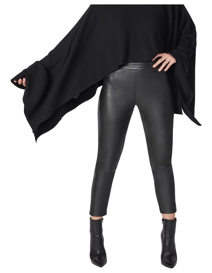 Cropped Leather Pants image 4