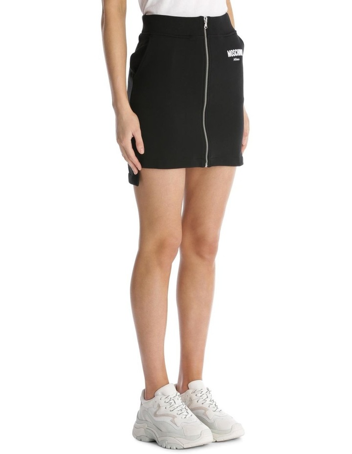 Couture 'Moschino Milano' Logo Zippered Knit Skirt image 2