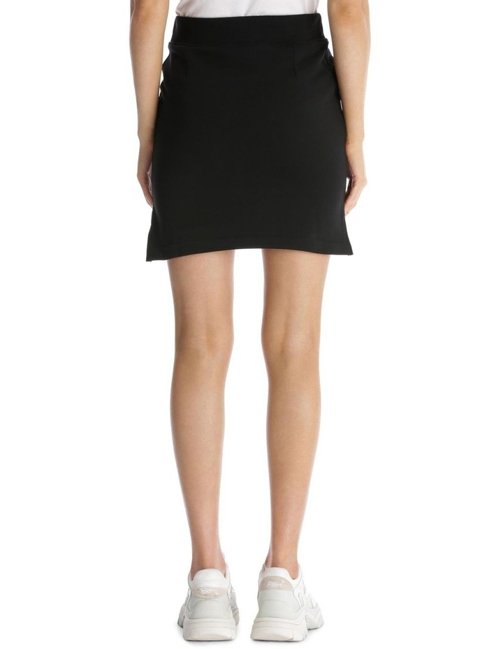 Couture 'Moschino Milano' Logo Zippered Knit Skirt image 3