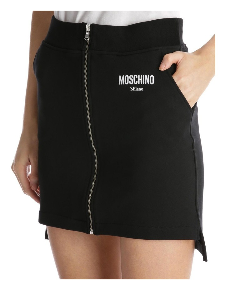 Couture 'Moschino Milano' Logo Zippered Knit Skirt image 4