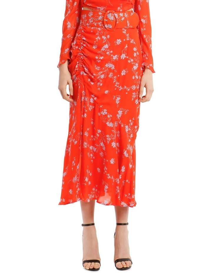 Side Gathered Poppy Multi Skirt image 1