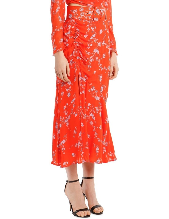 Side Gathered Poppy Multi Skirt image 2