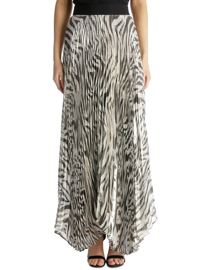 Accordion Pleated Tiger Skirt image 1