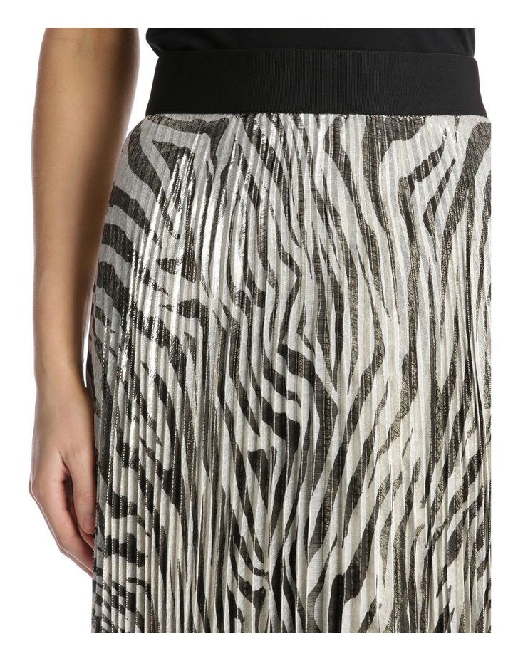 Accordion Pleated Tiger Skirt image 4