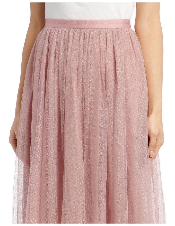Dotted Tulle Midi Skirt image 4