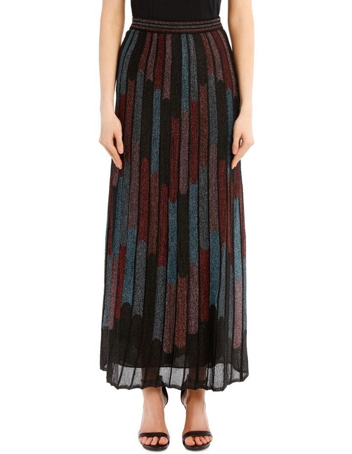 Metallic Pleated Skirt image 1