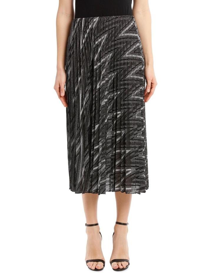 Glitter Pleated Zigzag Skirt image 1