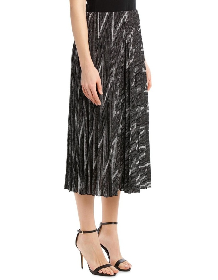 Glitter Pleated Zigzag Skirt image 2