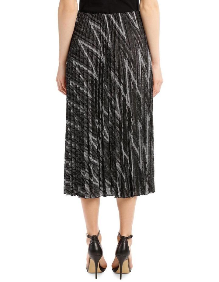 Glitter Pleated Zigzag Skirt image 3
