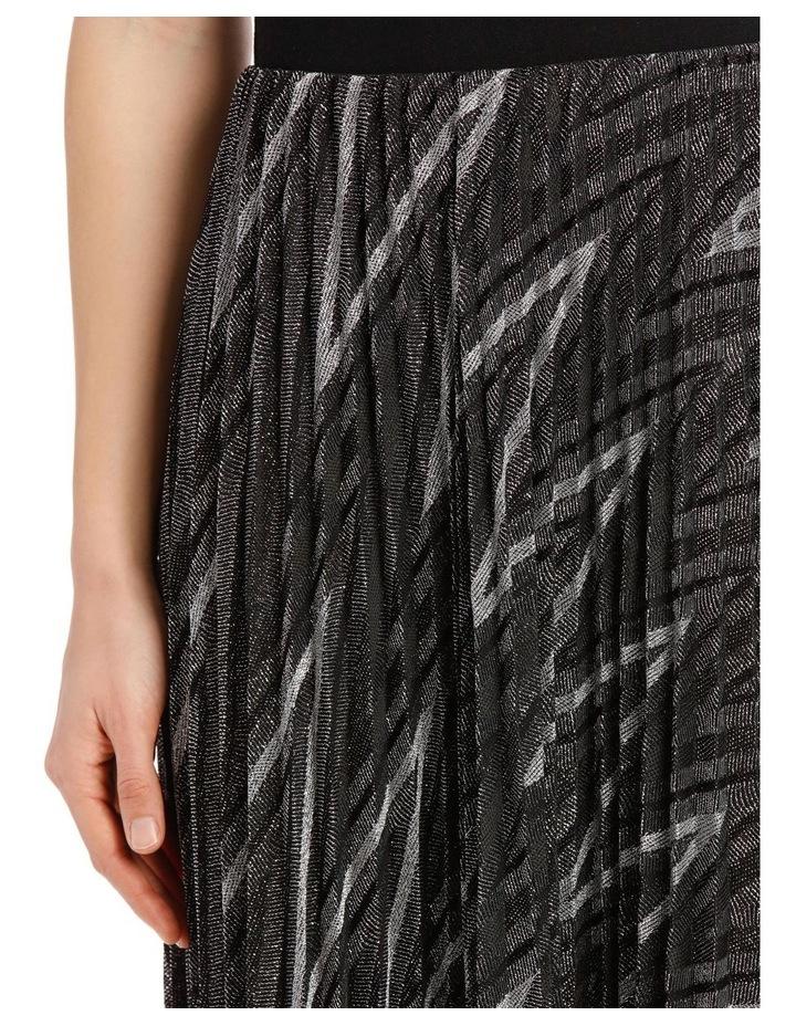 Glitter Pleated Zigzag Skirt image 4