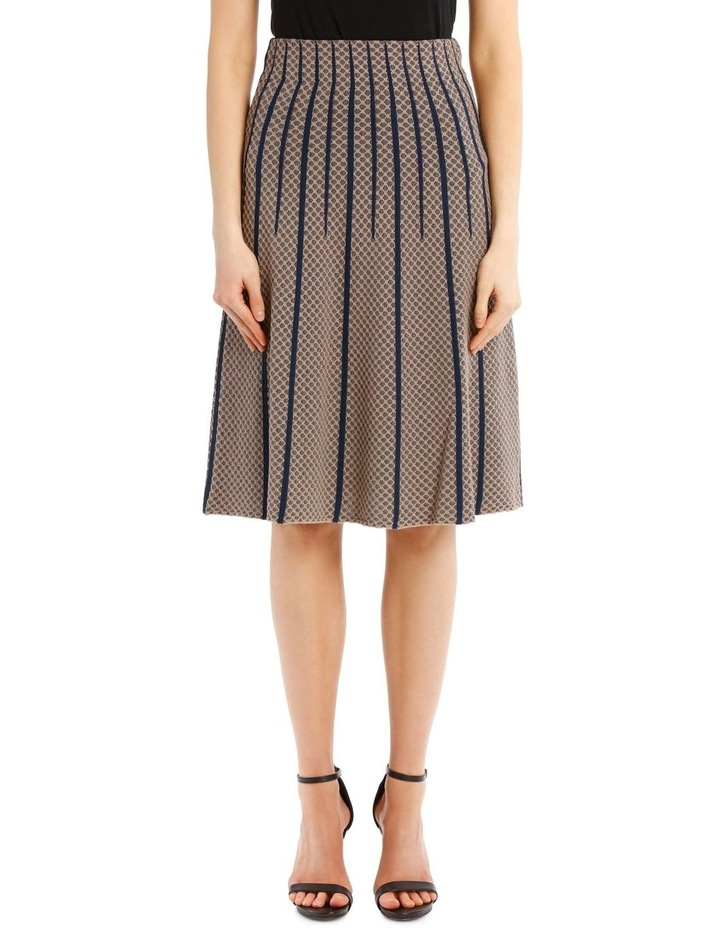 Taupe Diamond Knit Skirt image 1