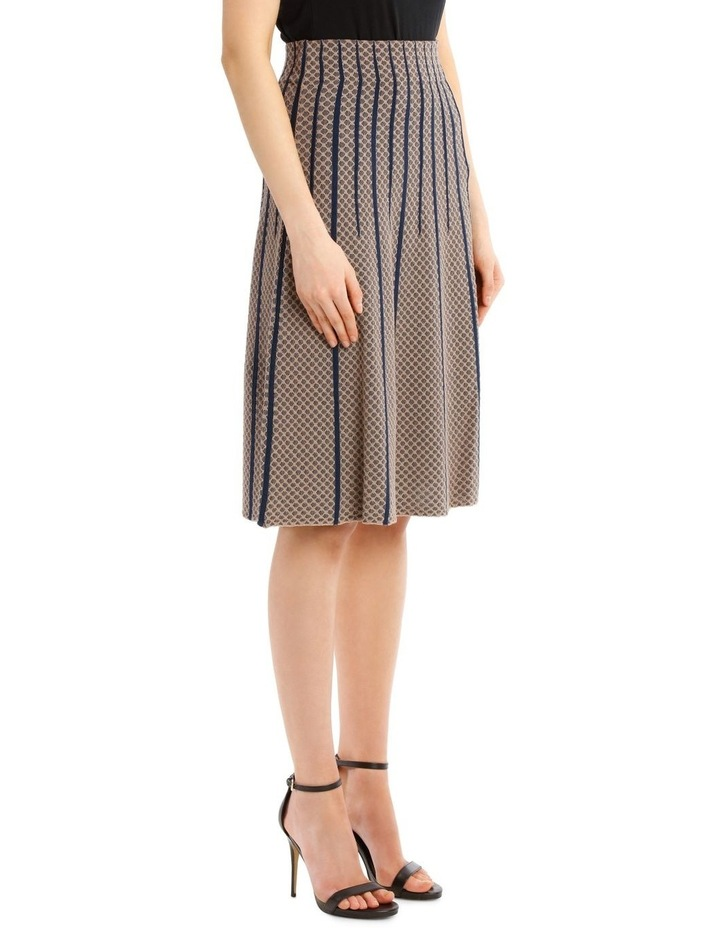 Taupe Diamond Knit Skirt image 2