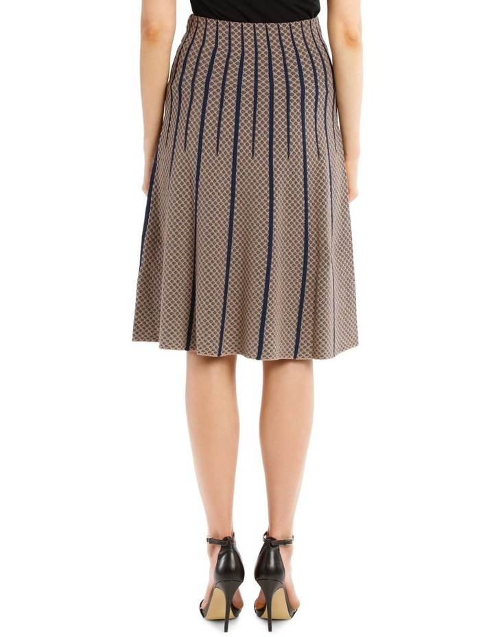 Taupe Diamond Knit Skirt image 3