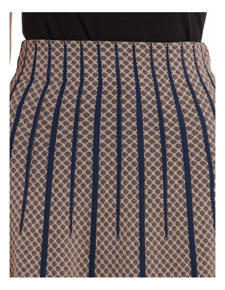 Taupe Diamond Knit Skirt image 4
