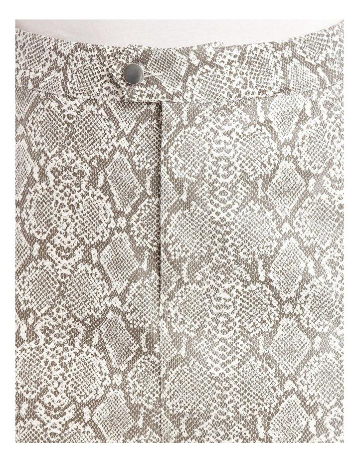 Snake-Print Miniskirt image 4