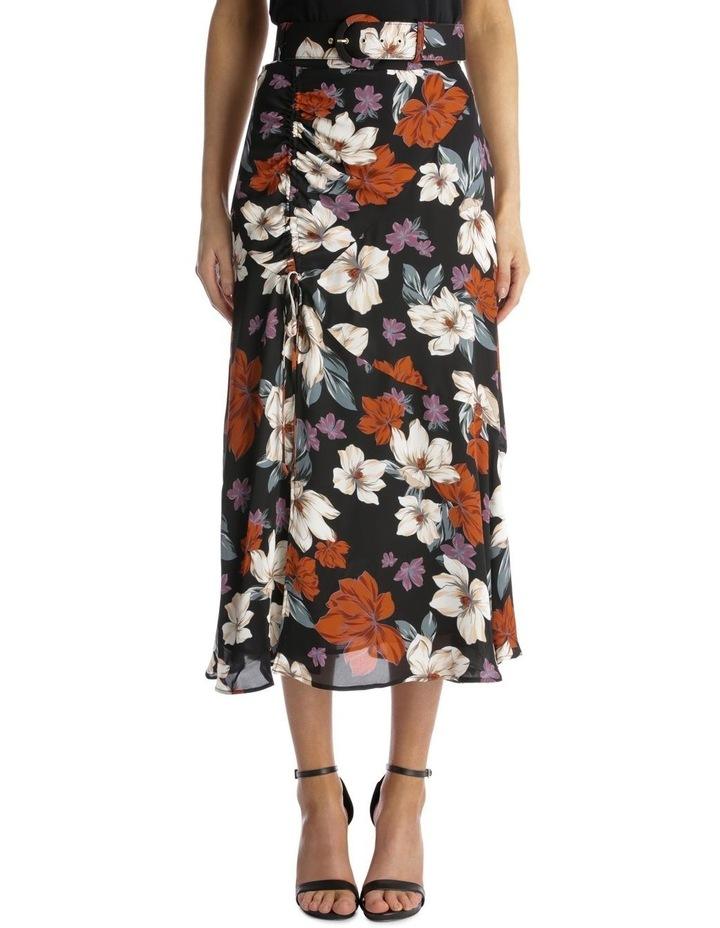 Side-Gathered Floral Skirt image 1