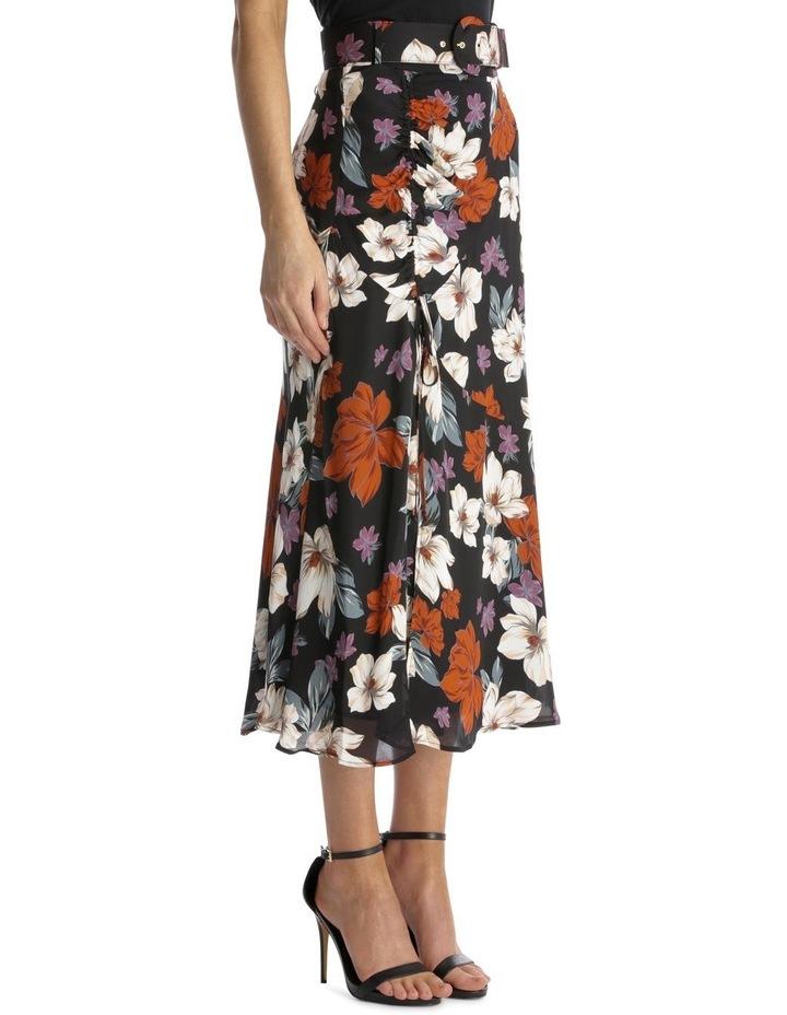 Side-Gathered Floral Skirt image 2