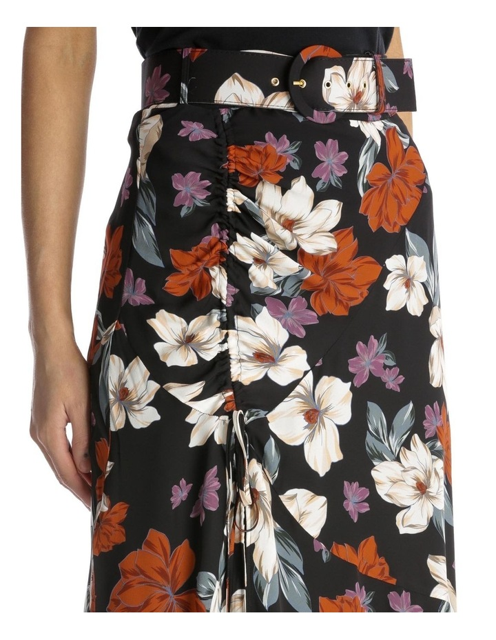 Side-Gathered Floral Skirt image 4