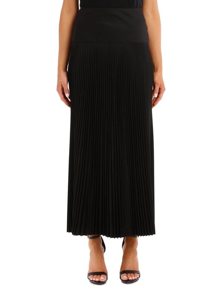 Bryanna Pleated Wool Skirt image 1