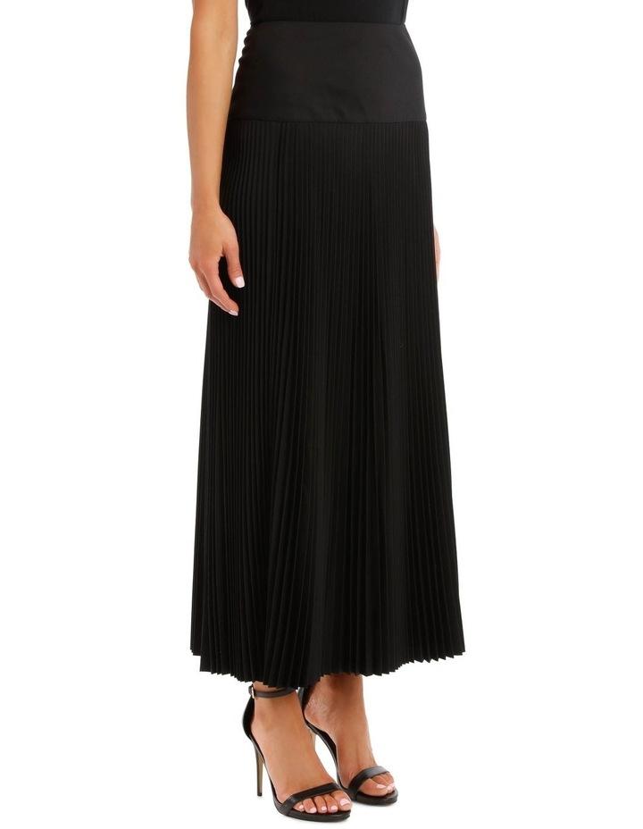 Bryanna Pleated Wool Skirt image 2