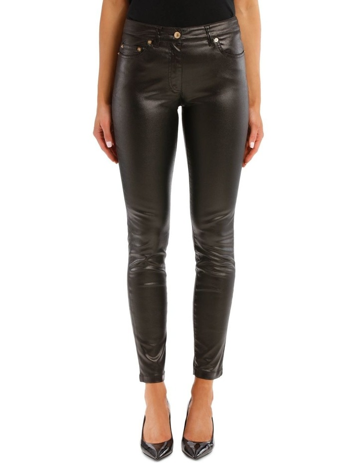 Black Laminated Trousers image 1