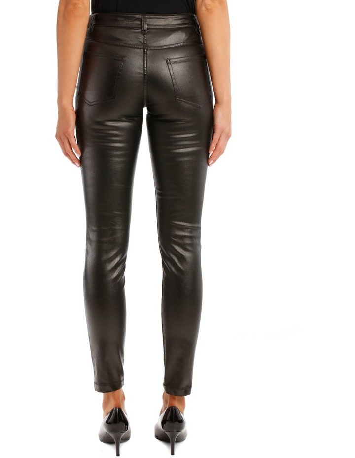 Black Laminated Trousers image 3