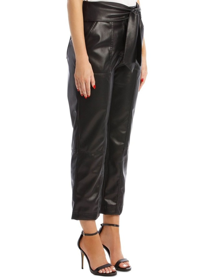 Vegan Leather Pant with Waist Tie image 2