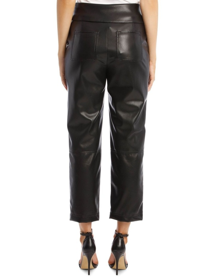 Vegan Leather Pant with Waist Tie image 3
