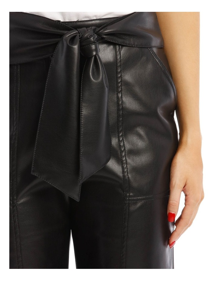 Vegan Leather Pant with Waist Tie image 4