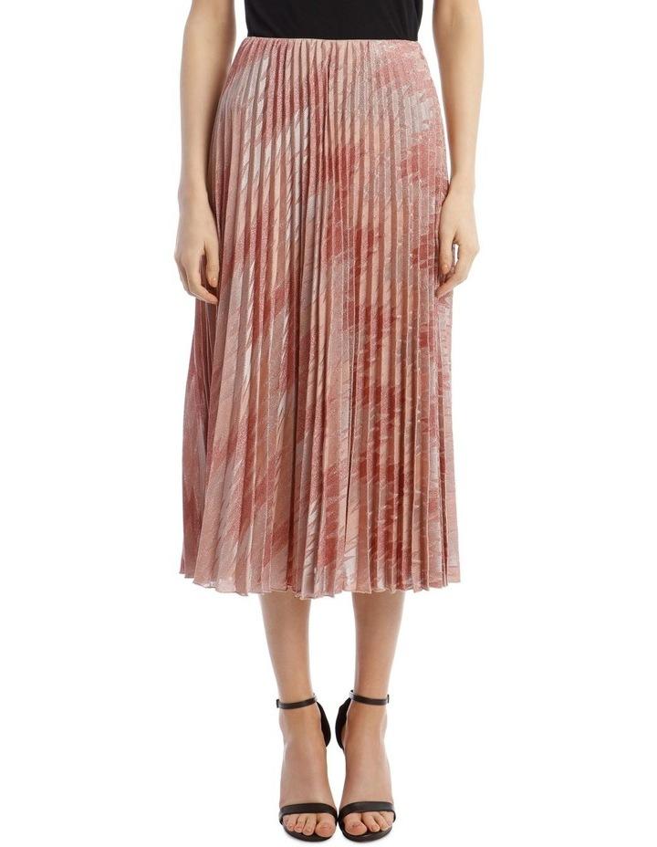 Lurex Pleated Midi Skirt image 1