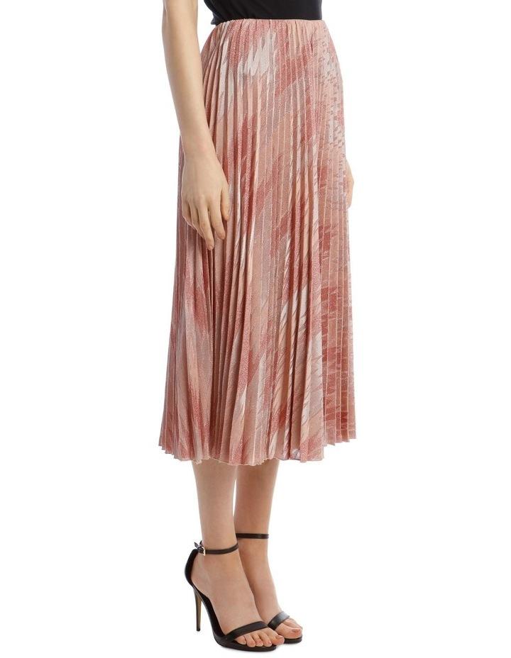 Lurex Pleated Midi Skirt image 2