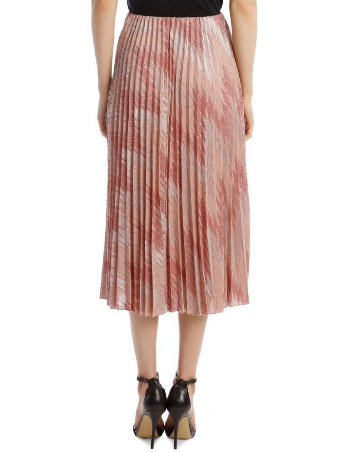 Lurex Pleated Midi Skirt image 3